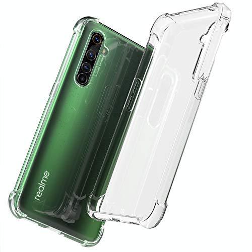 QHOHQ Hülle Kompatibel für Realme X50 Pro, mit Vier Ecken Schutzluftkissen, Stoßfest & Anti-Kratz Schutzhülle, Transparent
