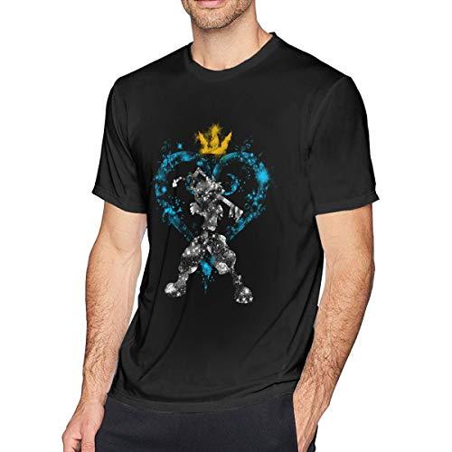 Kingdom-Hearts キングダムハーツ ファション メンズ 半袖Tシャツ ゆる 柔らかい 綿100% ラウンドネック トップス ョートスリーブ スポーツシャツ