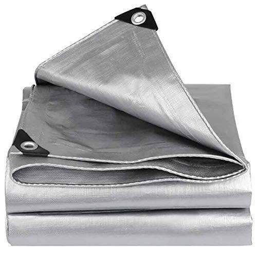 YCSD Tela Impermeable Tejida Plateada De Doble Capa De Lona, perforación Reforzada, Grosor 160 + 5g / M², 0,32 + 0,02 Mm, Utilizado para Cubierta De Barco, Caravana O Cubierta De Piscina(Size:3x4m)