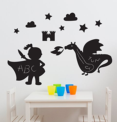 Fun to See Stickers pour chambre Motif Royaume Dragon magique