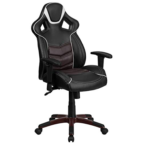 Flash Furniture High Back Marrone Eklipsis Brown Executive Gaming-Racing Swivel Chair with Comfort Coil Seat Springs and Brown Base