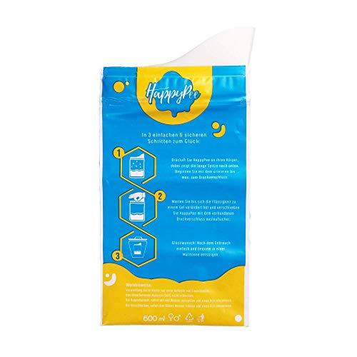 HappyPee Original - Dein Einweg Wegwerf Urinal für den Notfall   Mit Auslaufsicherem Zippverschluss + Gratis Taschentuch   Geeignet für Damen Herren & Kinder   10 Stück +1 Gratis