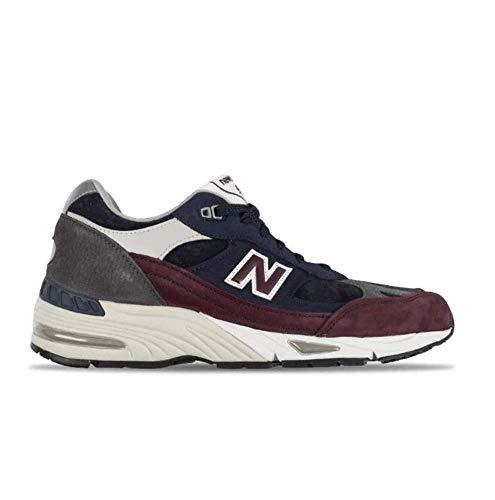 New Balance 991 Rkb Sneaker Uomo Black Navy Red Grey, 44.5, Blu