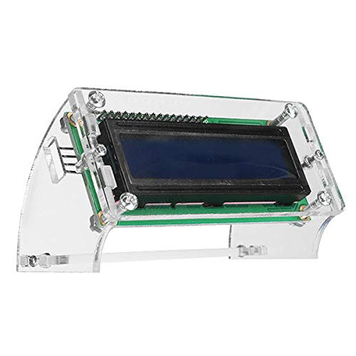 JISHIYU-Q IIC / I2C 1602 Blue Backlight LCD Display Module With Shell Bracket for Arduino