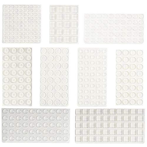 Irich 416 Stücke/ 9 Größen Transparent Selbstklebend Puffer, Silikon Anschlagpuffer für Tür Puffer Furniture Wand Schrank Schubladen