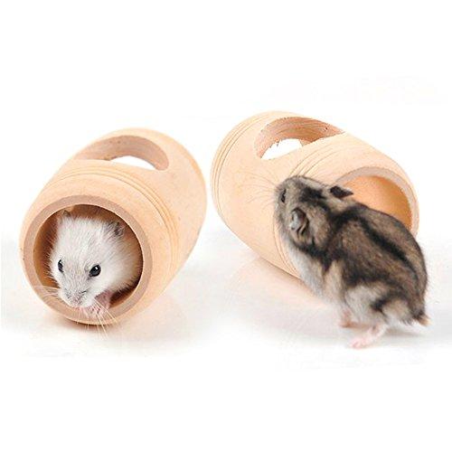 OMEM houten kist speelgoed voor knaagdier kleine huisdieren als hamster
