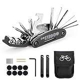 Woopus Fahrrad-Multitool, 16 in 1 Werkzeuge für Fahrrad Tragbare Werkzeuge Set Tasche mit Kette...