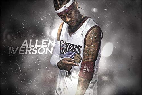 Wall Decor Master Allen Iverson VS Kobe Art Cloth Basketball Poster Print Room Decoration 20x30Inch