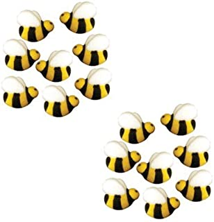 Bees Cakes Decorations #45148 - Bumble Bee Shaped Edible Hard Sugar Decorations, 16 pcs by Paradise Cupcakes