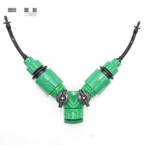 CHUJIAN 1PC Y Type kraanstukken Met Quick adapter for 3/5 mm Hose Tuinirrigatiestysteem Water Splitter for 1/8 '' Tubing Fittings