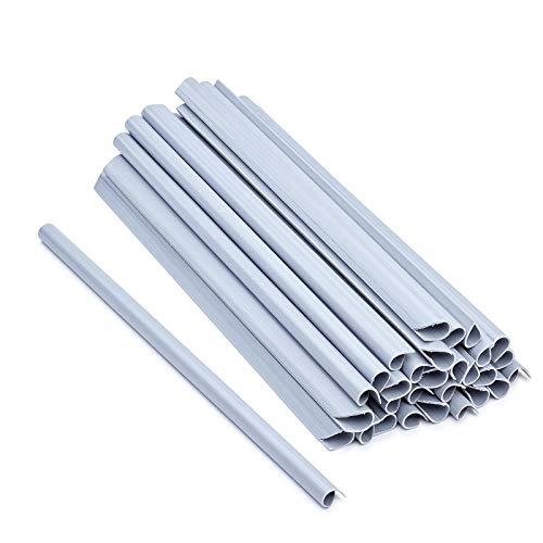 ESTEXO 30 Stück Befestigungsclips für PVC Sichtschutz-Streifen, Clip, Sichtschutz, Befestigung (Grau)