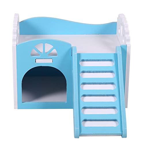 oueaen Hamster Nest Toy-3Colors Pet Hamster Rat Pequeño Animal Castillo Casa de Dormir Nido Ejercicio(蓝色)
