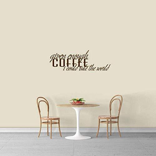 Gegeven genoeg Koffie Ik Kan Regel De Wereldmuur Decals Keuken Eetkamer Café Verwijderbare Vinyl Muurstickers Decor 57x20cm