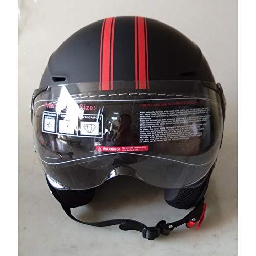 DataPrice Awen Casco Moto Abierto Homologado de Mujer y Hombre para Motocicleta, Ciclomotor y Scooter, Bicicleta ECE. Adhesivos y Llavero de REGALO.(S, Awen Saga Custom Naranja Fluo)