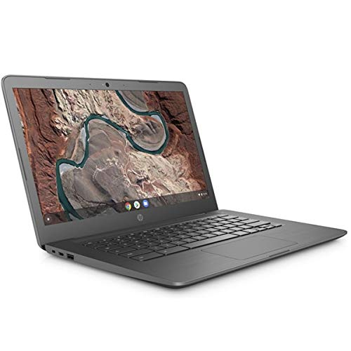 HP Chromebook 14-db0003na, Grey, AMD A4-9120C, 4GB RAM, 32GB eMMC, 14' 1366x768 HD, HP 1 YR WTY + EuroPC Warranty Assist, (Renewed)