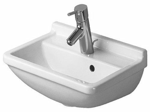 Duravit Handwaschbecken Starck 3 Breite 45cm 1 Hahnloch, weiß WonderGliss 7504500101, 7504500101