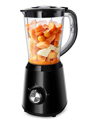 Smoothie Blenders for Kitchen, Easy Ice Crushing Blenders for Smoothies & Frozen Fruit with 2 Speeds & Pulse, BPA-Free, 50oz, Black