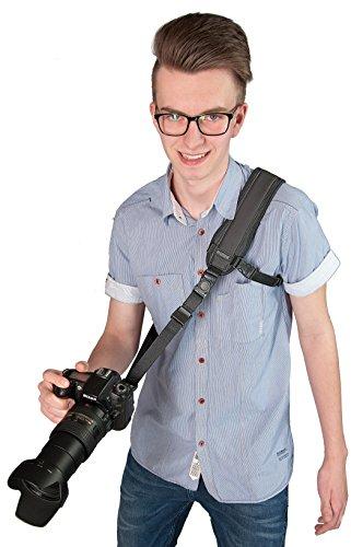 Kaiser Fototechnik 6760 Action Strap Schnellschuss-Kameratragegurt mit Länge 120-160 cm