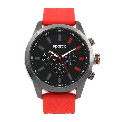 Sparco Quarzuhr Niki rot 48 mm