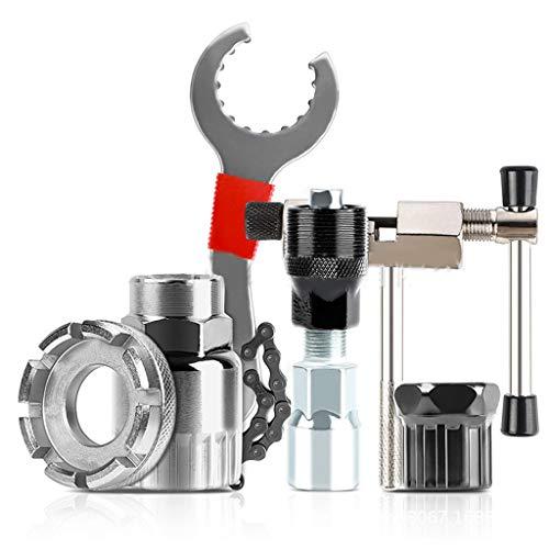 WT-DDJJK Extractor de Rueda Libre, Kit de Herramientas de reparación de Bicicletas, Soporte de Cortador de Cadena de manivela/Rueda Libre/Extractor de manivela