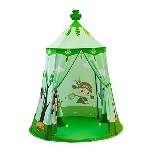Varadyle Spiel Zelt für Kinder Mongolisches Jurten Zelt Kinder Faltbares Schloss Indoor AuuEn Oxford Stoff Spiel Haus für Jungen MMDchen (B)