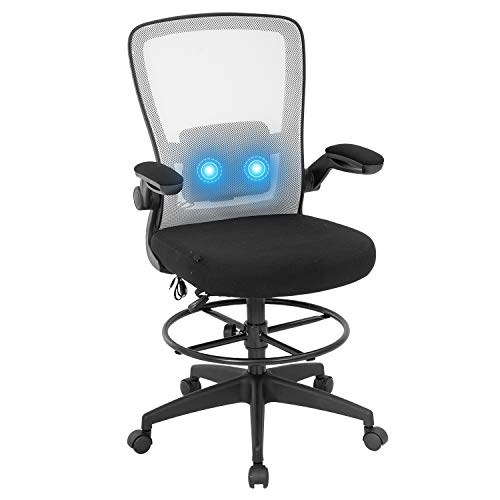 Drafting Chair Office Chair Computer Chair Adjustable Height with Lumbar