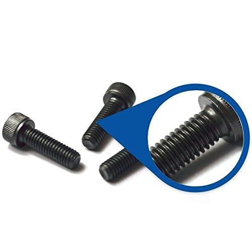 ABBOTT Innensechskantschrauben, M4 x 30mm (0,5mm Steigung), Feingewinde, Stahllegierung Klasse 12.9, 3Stück