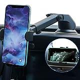 『最新版』車載ホルダー車スマホホルダー片手操作性能改良のスマホスタンド携帯ホルダー車用品簡単に取り付け 360度回転4-7インチ全機種対応iPhone/Samsung/Sony/LG/Huawei など(粘着ゲル吸盤&エアコン吹き出し口式兼用)