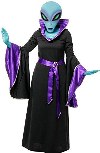 Charades Llc Women's Alien Queen Robe Costume Multicoloured X-Small