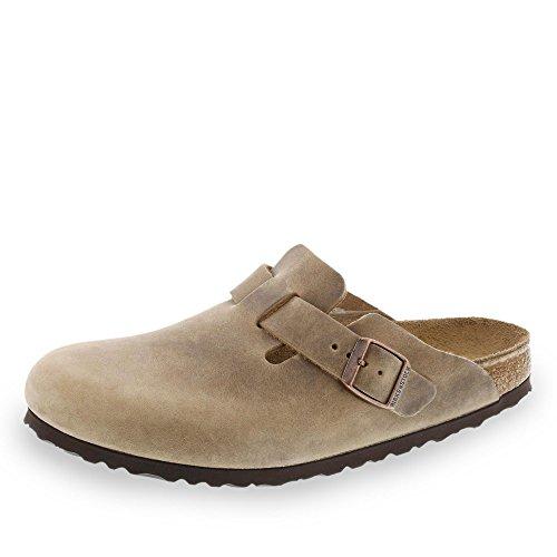 Birkenstock Schuhe Boston Geöltes Nubukleder Normal Tabacco Brown (960811) 44 Braun