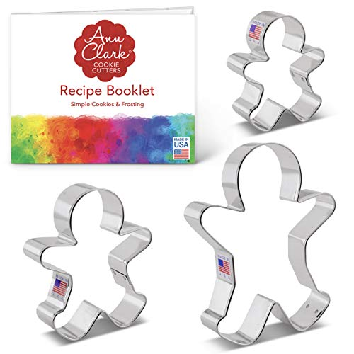 3 Piece Gingerbread Man Cookie Cutter Set