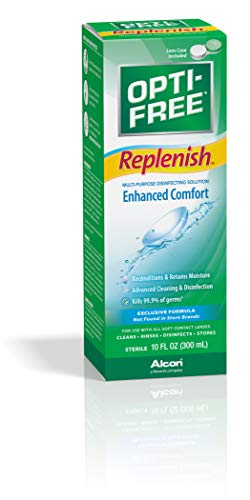 Opti-Free Replenish Multi-Purpose Disinfecting Solution With Lens Case, 10 Oz