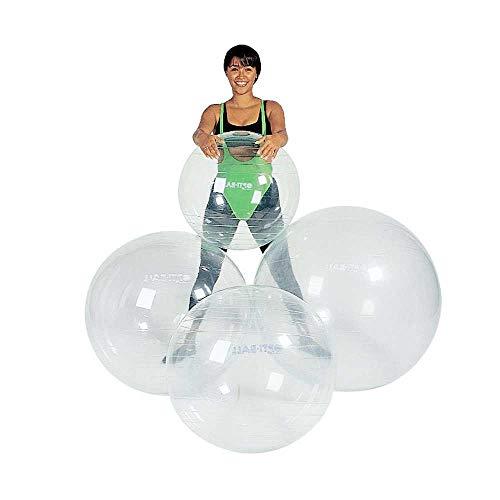 1x transparenter Gymnastikball OPTI von Behrend, Fitnessball Sportball, hochelastisch, 55 cm
