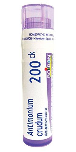 Boiron Antimonium Crudum 200C, 80 Pellets, Homeopathic Medicine for Indigestion