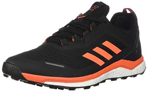 adidas Men's Terrex Agravic Flow Shoes Col Burgundy/Solar Orange/Black 7