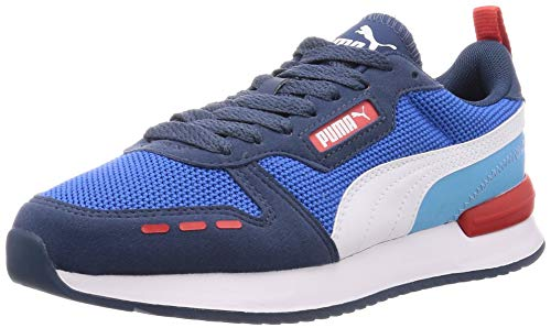 PUMA Unisex R78 Sneaker, Palace Blue-Dark Denim White, 39 EU