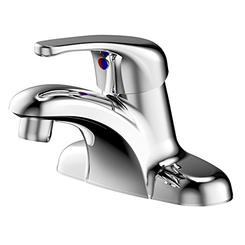 ENZO RODI 4 inch Bathroom Faucet Chrome, Full-Metal Single Handle 3 Holes Centerset Bathroom Sink Faucet Without Drain Assembly, Vanity Basin Tap Mixer, ERF1214255CP-10
