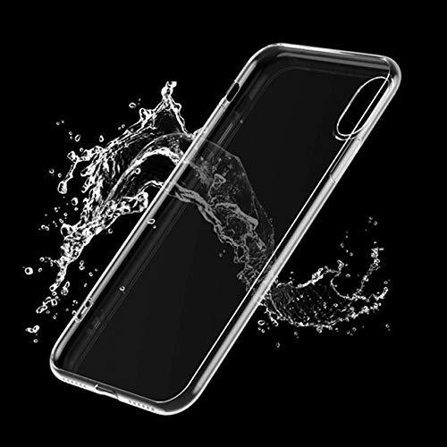FYMIJJ Funda para teléfono con Cadena de Mariposa para iPhone 12 Pro Mini 11 7 8 Plus X XR XS MAX SE 2020 Funda Protectora Transparente con Pulsera de Moda Suave, b, para iPhone XS MAX