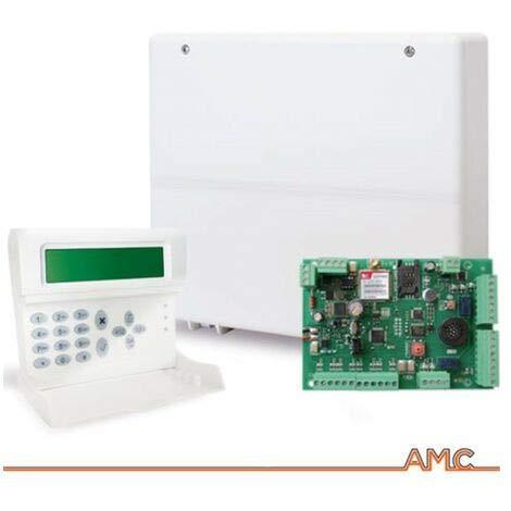 Centrale allarme 8 zone espandibile a 24 AMC C24GSM plus + tastiera KLCD voice
