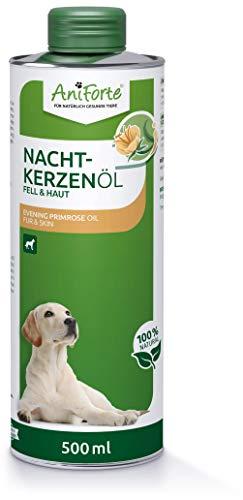 AniForte Nachtkerzenöl für Hunde 500ml – ungesättigte & gesättigte Fettsäuren, Omega 6 & 9, Stärkung des Wohlbefinden, Recyclebare Verpackung ohne BPA, Naturprodukt, Keine Kapseln