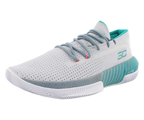 Under Armour Sc 3zer0 Iii Zapatos de Baloncesto Hombre, Gris (Halo Gray/Ash Gray/Teal Rush (101) 101), 38 EU