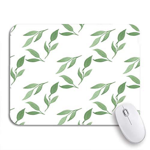 Gaming Mouse Pad Agave aus Aquarell Grün Blätter Aloe Schöne Blüte Rutschfeste Gummi Backing Computer Mousepad für Notebooks Maus Matten