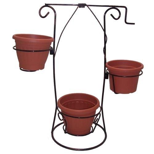 Porte-pots hauteur 80 cm, trois places.