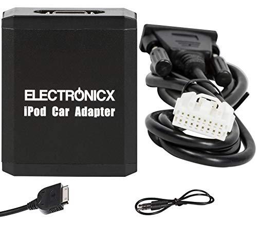 Electronicx Elec-M05-MAZ1 compatible with iPhone, iPad, iPod,AUX Adattatore musica di viagio per Mazda 3 5 6 RX8 PREMACY