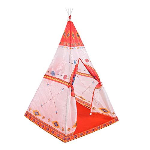 Faltbare Kinder Mädchen Orange Tipi Zelt Spiel Zelt Für Drinnen Und Draußen Spielen - # 3