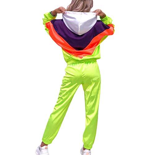WEIMEITE Frauen Sport Anzüge Mode Patchwor Laufen Sets Trainingshose Weibliche Jogginganzug Trainingsanzug Mit Kapuze Sweatshirt