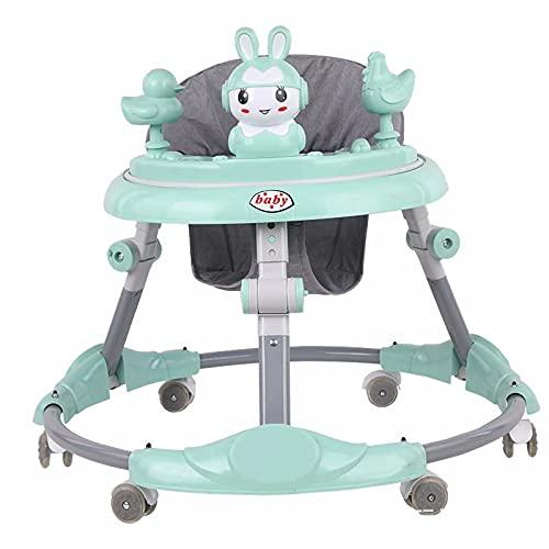 HYWY Baby Andador, Andador Bebé, Andador Multifuncional, Diseño Plegable Multifuncional, Ruedas Universales Silenciosas. Los Bebés Mayores De 6 Meses Aprenden a Caminar Green