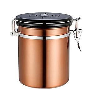 Fastar de conservation pour grains de café, thé et marchandises sèches, Acier inoxydable Emballé sous vide Boîte à café 1.5L