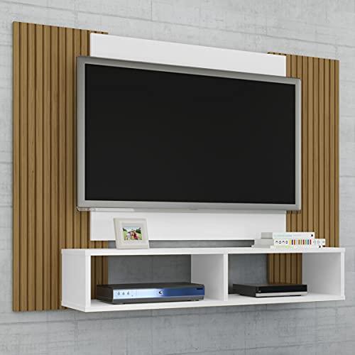 Painel Navi para Tv até 42 polegadas Branco com Cinamomo Ripado
