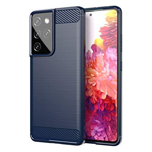 TingYR Funda para Samsung Galaxy S21 Ultra, Resistente a los Arañazos, Fina de Silicona, Funda Interior de TPU Suave, Fundas para Samsung Galaxy S21 Ultra Smartphone.(Azul)